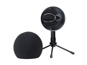 Blue Snowball Pop Filter Customizing Microphone Windscreen Foam Cover for Improve Blue Snowball iCE Mic Audio Quality Black