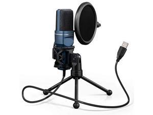 USB Gaming Microphone  Computer Condenser PC Mic with Tripod Stand Pop Filter for Streaming Podcasting Vocal Recording Compble with iMac PC Laptop Desktop Windows Computer TC777