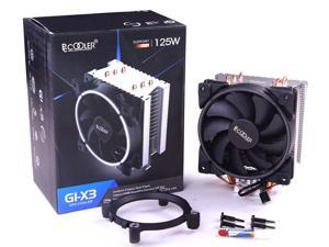 Small 3P + Large 4P Dual Interface//Double Aperture Design//Shock Absorption Pad//Gift 4 Screws 12CM White Light Computer Chassis Fan Computer CPU Fan. Gaoxingbianlidian CPU Cooler