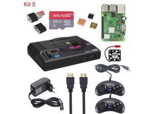 Retroflag MEGAPi CASE-M for Raspberry Pi 3 Model B Plus Classic USB Controller-M + Fan + Heatsinks + Power Adapter for RetroPie (Full kit)