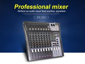 G-MARK MR80S audio mixer music studio mixing console Analog mixer 7 mono 1 stereo USB MP3 Bluetooth 48V power DJ party Church