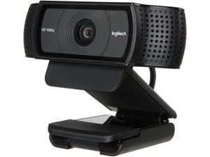 High-Performance Logitech HD Pro Webcam C920, Widescreen Video Calling and Recording, Full HD 1080p 720p Camera ,Fast uploads with H.264, Desktop or Laptop Webcam,For Windows Mac OS Android Webcam