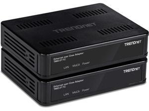 TRENDnet TMO-311C2K, MoCA 2.0 Ethernet Over Coax Adapter (2-Pack)