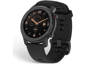 Amazfit GTR Smartwatch, Classic Design, 24/7 Heart Rate Monitor, Music Control, GPS+GLONASS Enabled, 10-Day Battery Life, 12-Sport Modes, Water Resistant, 42mm, Starry Black