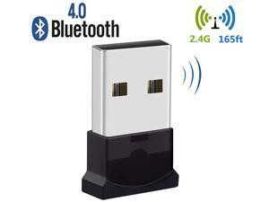 Bluetooth USB Adapter Bluetooth 4.0 USB Dongle Low Energy for PC Wireless Dongle for Stereo Music Keyboard Mouse Support Windows 10 8.1 8 7 XP vista