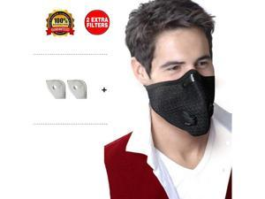Allergy Mask Anti Pollution Mask Respirator Pollen Mask with Activated Carbon Dust Mask Anti Allergy Woodworking Dust Mask, Running Mask Anti Fume Mask, máscara anti polvo - Washable Reusable