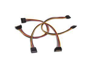 SATA Power Cable WERLEO [3-PACK] 8 Inch SATA 15 Pin Male to SATA 15 Pin Female Cable SATA Power Extension Cable SATA 15-Pin Power Adapter