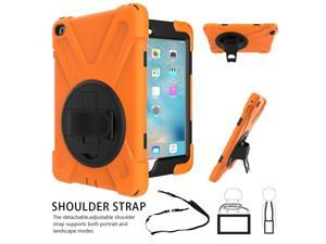 Werleo for iPad Mini 4 Case Three Layer Drop Protection Shockpoof Rugged Heavy Duty iPad Mini 4 Protective Case With a 360 Degree Swivel Stand Hand Strap and a Shoulder Strap for iPad Mini 4 Case