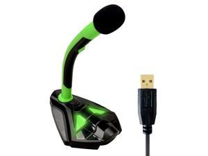 Voice Desktop USB Microphone for Computer Laptop PC Mac and PS4 - High Definition Quality Audio for Recording, Gaming, Streaming, YouTube & Podcast Mic