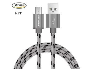 2 Pack 6FT Werleo Micro USB Cable Android Micro USB to USB 2.0 Cable Nylon Braided Sync and Fast Charging Cable for Samsung Kindle Android Smartphones Galaxy S8 S7 S6 Edge PS4 HTC Nexus LG Xbox