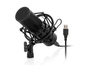 Werleo Professional Studio Condenser Microphone Computer PC Microphone Kit with Shock Mount USB Cable for PC Studio Recording Podcasting Youtube Karaoke
