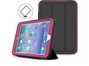 Werleo iPad Mini 1 2 3 Case Three Layer Shock Proof Protective Case for Kids Adults Smart Cover Auto Sleep Wake & PU Leather Folio Stand Function iPad Mini 1st 2nd 3rd Generation