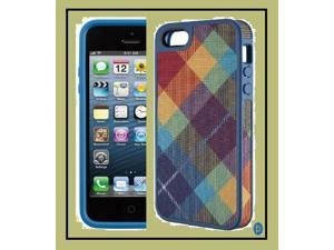 iPhone 5/5s  71169-B738 FABSHELL MEGAPLAID SPECTRUM/HARBOR BLUE