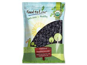 Organic Pitted Prunes — Dried California Plums, Non-GMO, Kosher, Unsulfured, Unsweetened, Bulk (by Food to Live) (5 Pounds)