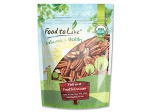 Certified Organic Pecans by Food to Live (Raw, No Shell, Kosher) — 3 Pounds