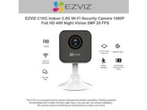 EzViz C1HC 1080p High Definition Indoor WiFi Camera Baby Monitor, Smart Motion Detection, Two-Way Audio, 40ft Night Vision, Works with Alexa & Google Assistant