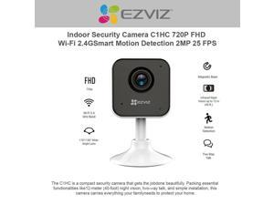 EzViz C1HC 720p High Definition Indoor WiFi Camera Baby Monitor, Smart Motion Detection, Two-Way Audio, 40ft Night Vision, Works with Alexa & Google Assistant
