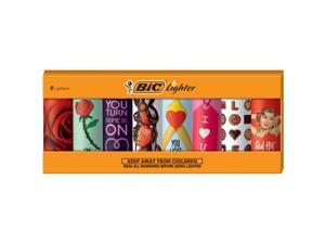 BIC Special Edition Valentines Series Lighters, Set of 8 Lighters