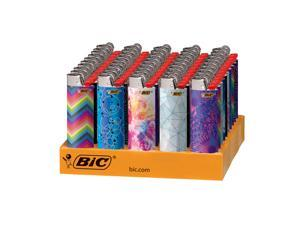 BIC Special Edition Geometric Series Lighters, 50-Count Tray