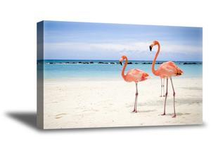 Awkward Styles Vintage Decor Cute Room Decorations Beautiful Flamingo Picture Pink Room Wall Art Flamingo Room Printed Wall Decor Flamingo Canvas Decor Ideas Ready to Hang Picture Home Decor Ideas
