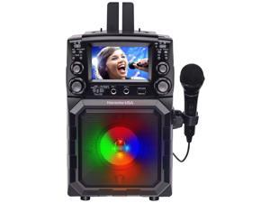 Karaoke USA Portable CD/MP3 Karaoke Player - Bluetooth, Recording Function & Built-In Battery