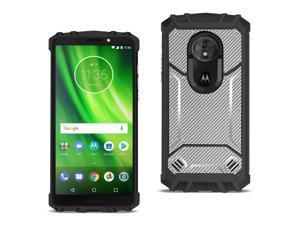 Reiko Motorola Moto G7 Play�Carbon Fiber Hard-Shell Case In Gray