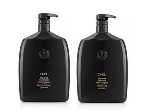 Oribe Signature Shampoo & Conditioner Liter Duo 33.8 oz Pumps