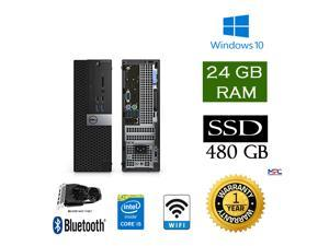 Gaming PC - Dell 5040 SFF Desktop Intel Core i5 @ 3.3GHz, 24GB RAM, 480GB SSD, GTX 1650 4G, Win 10 Pro