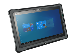 "GETAC F110 tablet, 11.6"" HD Multi-Touch, Intel Core i7-4600U @ 2.10GHz, 256GB SSD, 8GB RAM, Wi-Fi, BT, 4G LTE, Webcam, Rear Camera, Contacted SmartCard Reader, Barcode Reader, Windows 10 Pro"