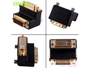 24+5 Pin DVI Male to Female 90 degree Port Cable adapter Monitor Connector 10.2Gbps DVI Video Extension converter