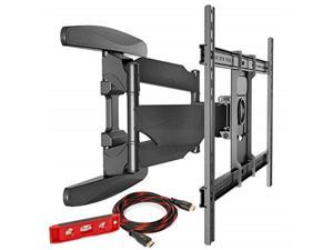 mountio heavy duty full motion articulating tilt swivel tv wall mount extension universal bracket for 4070 flat screen led oled qled televisions