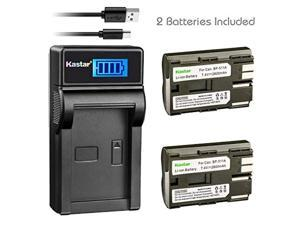 kastar battery (x2) & slim lcd charger for canon bp-511 bp-511a and eos 5d 10d 20d 30d 40d 50d digital rebel 1d d60 300d d30 ki