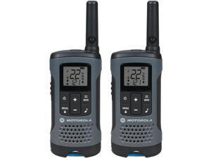 MOTOROLA T200 Two Way Radio,Gray,NiMh or Alkaline,PK2