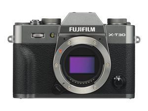 Fujifilm X Series X-T30 - Digital camera - mirrorless - 26.1 MP - APS-C - 4K / 30 fps - body only - Wi-Fi, Bluetooth - charcoal silver