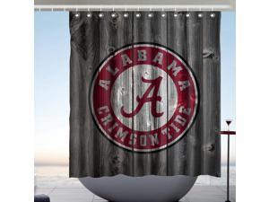 Alabama Crimson Tide 02 Fans Bath Shower Curtain 66x72 Inch