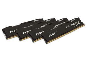 32GB Kingston HyperX Fury PC4-21330 2666MHz CL16 Memory Kit (8GBx4) - Black