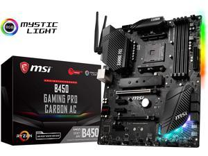 MSI B450 Pro Carbon Gaming Motherboard - AMD B450 Chipset - Socket AM4 - 64GB Ma