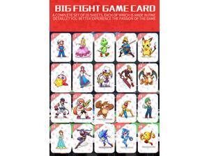 20PCS Super Smash Bros Amiibo NFC TAG Cards for NS Switch, Wii U, New3DS with Free Leather Case