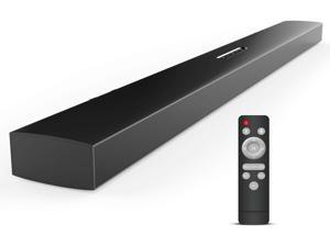 Meidong Sound Bars for TV 26-inches 60-Watts 6 Speakers Bluetooth 4.2 Soundbar Wired & Wireless Stereo Sound Optical/RCA/Aux/Bluetooth 4.2 Remote Control