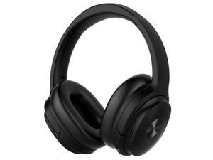 SHOPIFY-SE7 Dual Feedback Active Noise Cancelling Bluetooth Headphones, BLACK