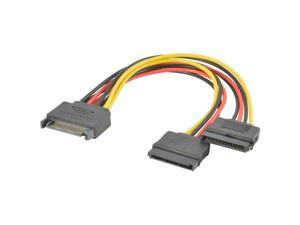 5-Pack SATA Power 15-pin Y-Splitter Cable Adapter 5X