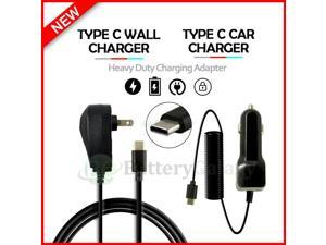USB Type-C Wall+Car Charger for Android Phone Google Pixel 4 / 4A / 5