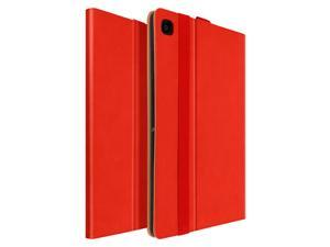 Case the Galaxy Tab A7 10.4 2020 Satin Leather Card holder Function Support red