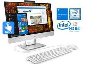 """HP Pavilion 24"""" Touchscreen All-in-One PC, Intel Dual-Core i3-7100T 3.4GHz, 8GB RAM, 1TB HDD, HDMI In/Out, Card Reader, USB 3.1 Type-C,Wi-Fi, Bluetooth, Windows 10 Home"""