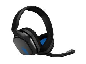 Logitech Astro A10 Wired Gaming PC PS4 Headset w/ Boom Mic 3.5mm Gray Blue