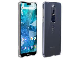 Back case + Screen Protector Tempered Glass Clear Nokia 7.1