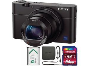 Sony Cyber-shot DSC-RX100 III 20.1MP Built-In Wi-Fi Digital Camera with 64GB SDHC Memory Card