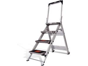 little giant ladder systems 10410ba safety step ladder four step with bar, 2 x 11inch