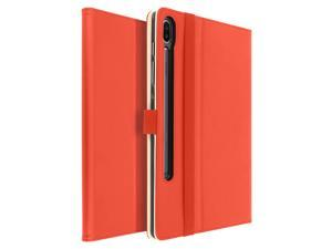 Stand Folio Case with Card Slots for Samsung Galaxy Tab S6 10.5 Satin- Red