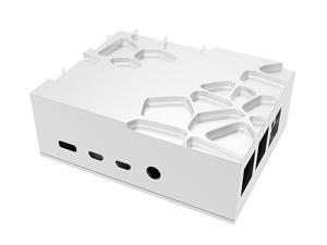 Akasa Gem Pro   Raspberry Pi 4 Passive Cooling Case   Prime Silver Aluminum Raspberry Pi Fanless Housing   Powerful & Ultra Quiet   Compatible with Raspberry Pi 4 Model B   A-RA09-M2S